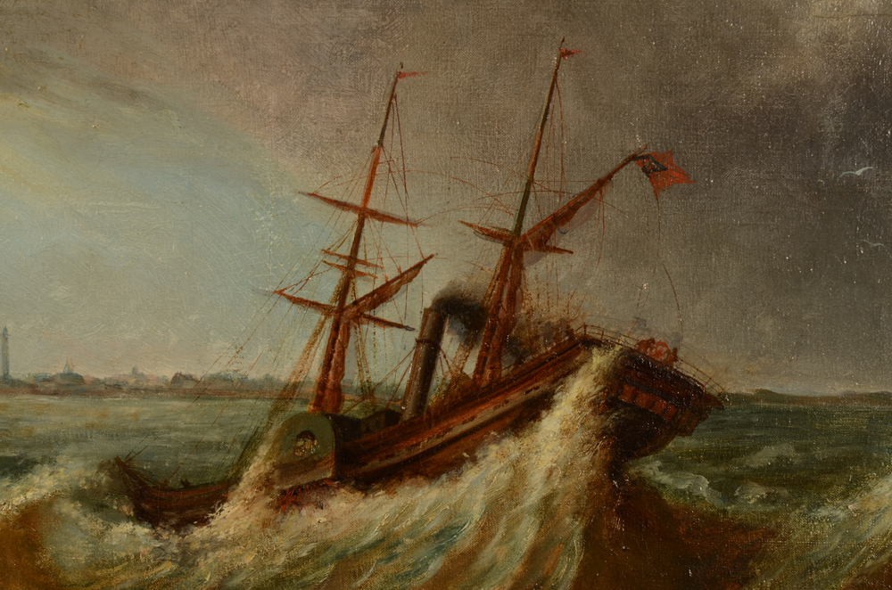 Louis Jotthier — Detail of the steamer