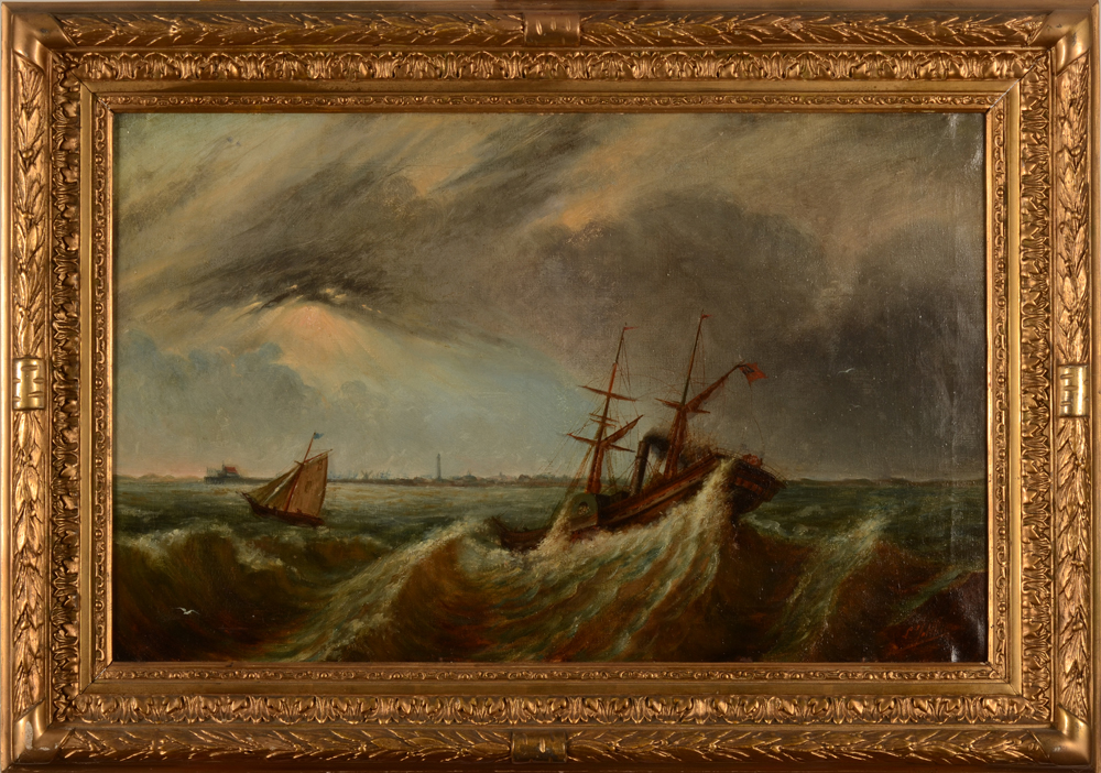 Louis Jotthier — the painting in its frame