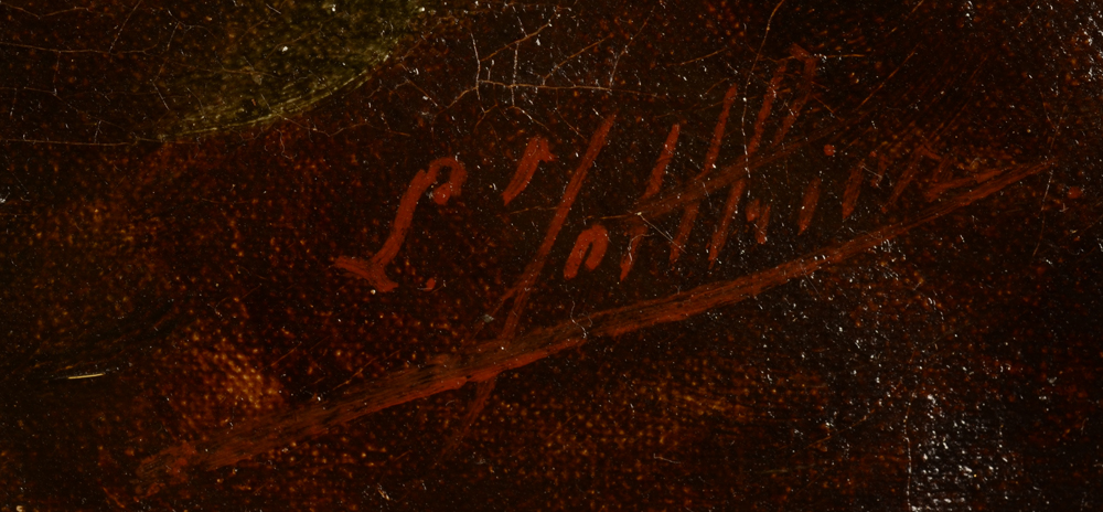 Louis Jotthier — Signature of the artist bottom right