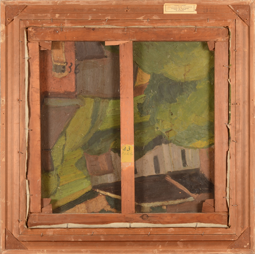 Henri Le Roux  — Back of the painting, showing an expressionist work probably from the 1920's