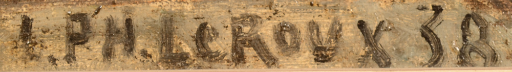 Henri Le Roux  — Signature of the artist and date, bottom right