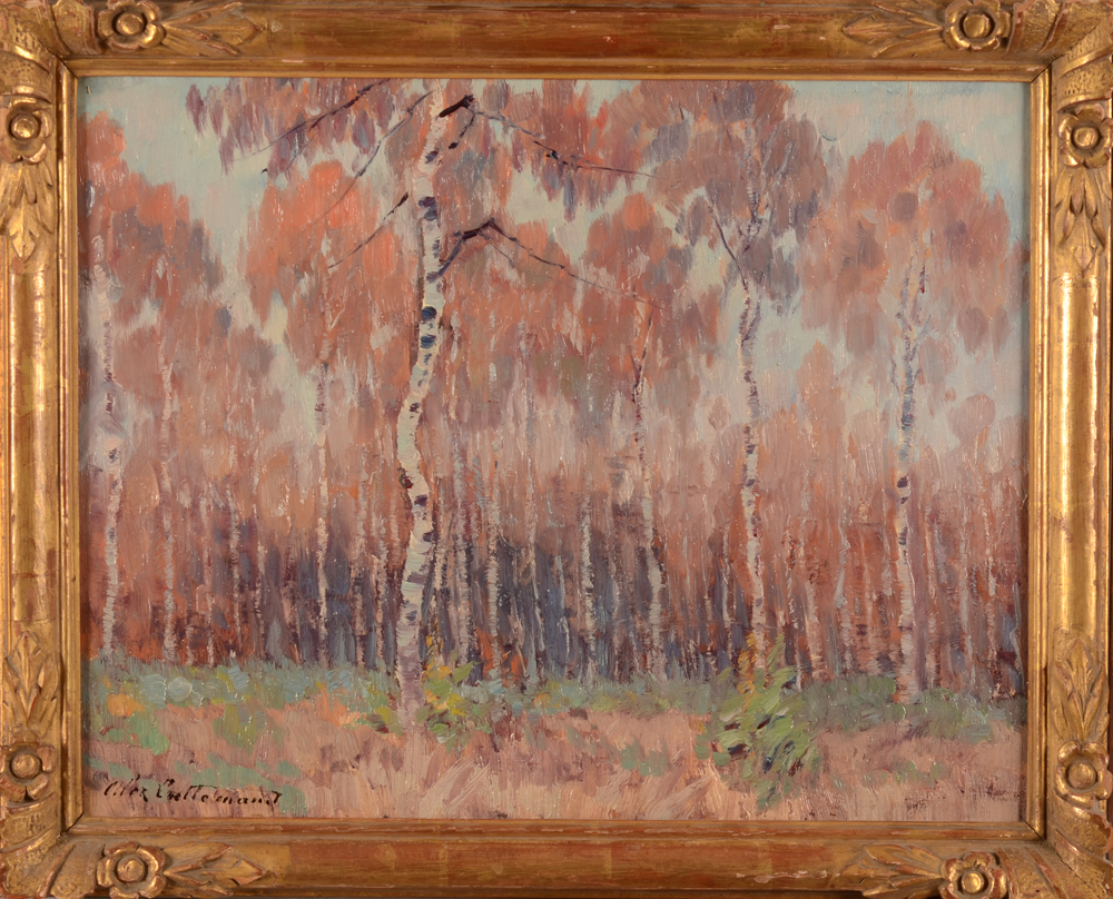 Alex Lallemand Birch trees — With its frame