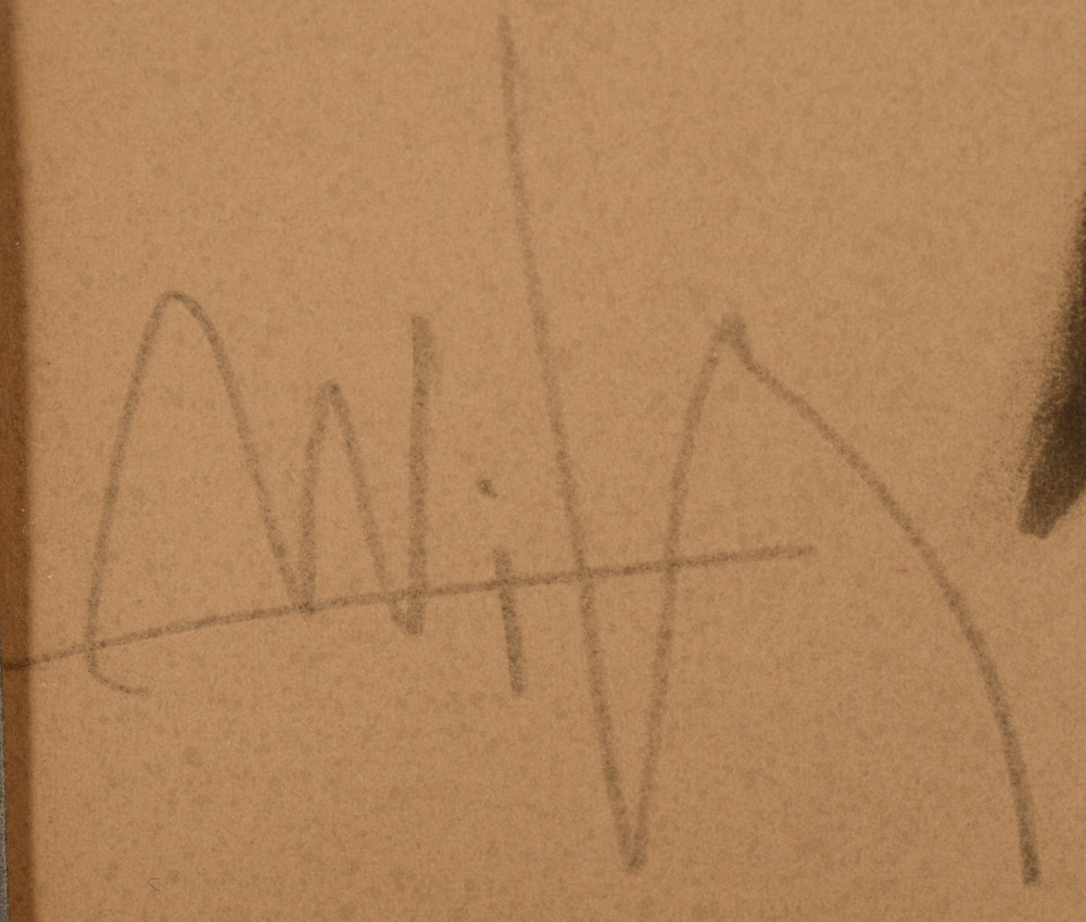 Wifredo Lam — Signature of the artist in pencil