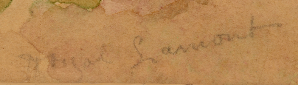 Thomas Reynolds Lamont — Signature of the artist in pencil, bottom center-right