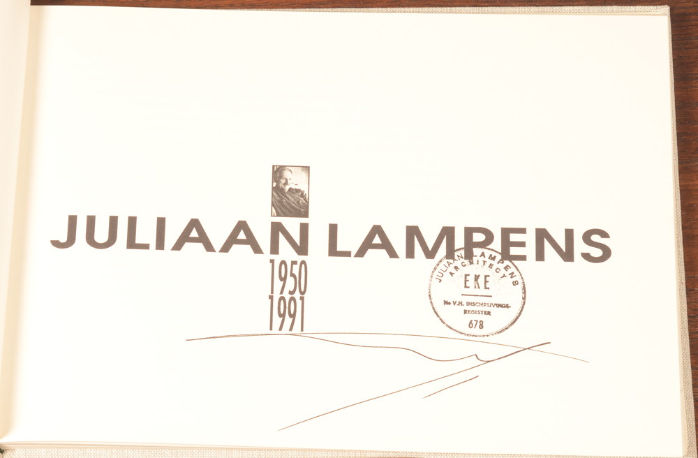 Juliaan Lampens — title page of the catalogue