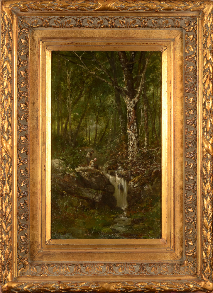 Henri Langerock — The painting in its 19th century frame