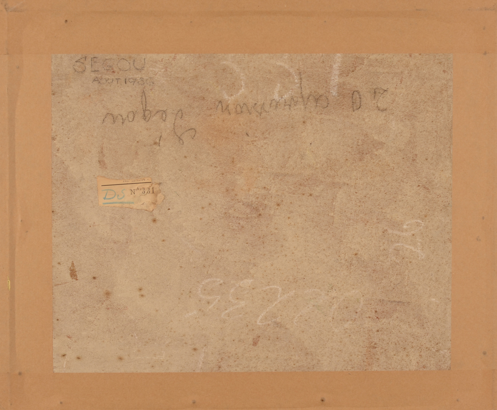 Fernand Lantoine — Back of the painting with title and date