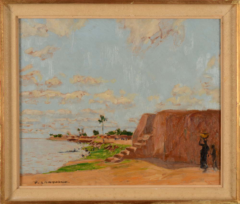 Fernand Lantoine — The painting in its frame<br>