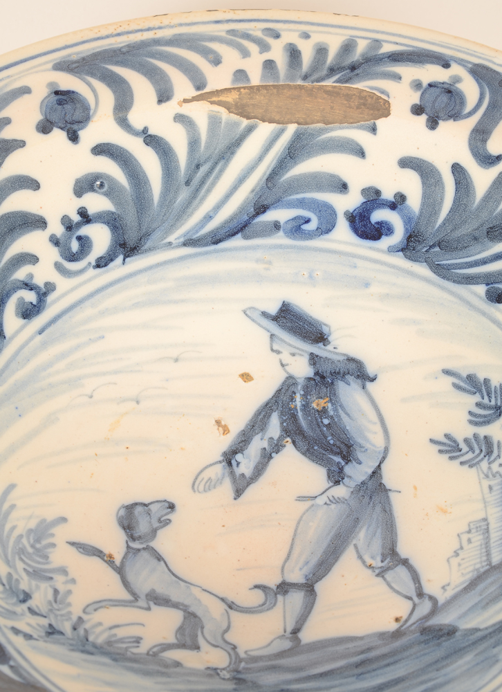 Large ceramic dish — <p>Detail of the central decoration</p>