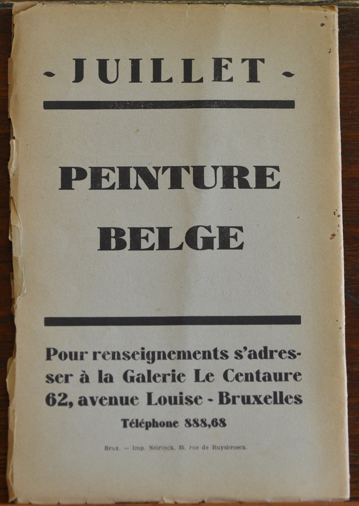 Le Centaure Juin-Juillet 1930 — Back cover of the magazine