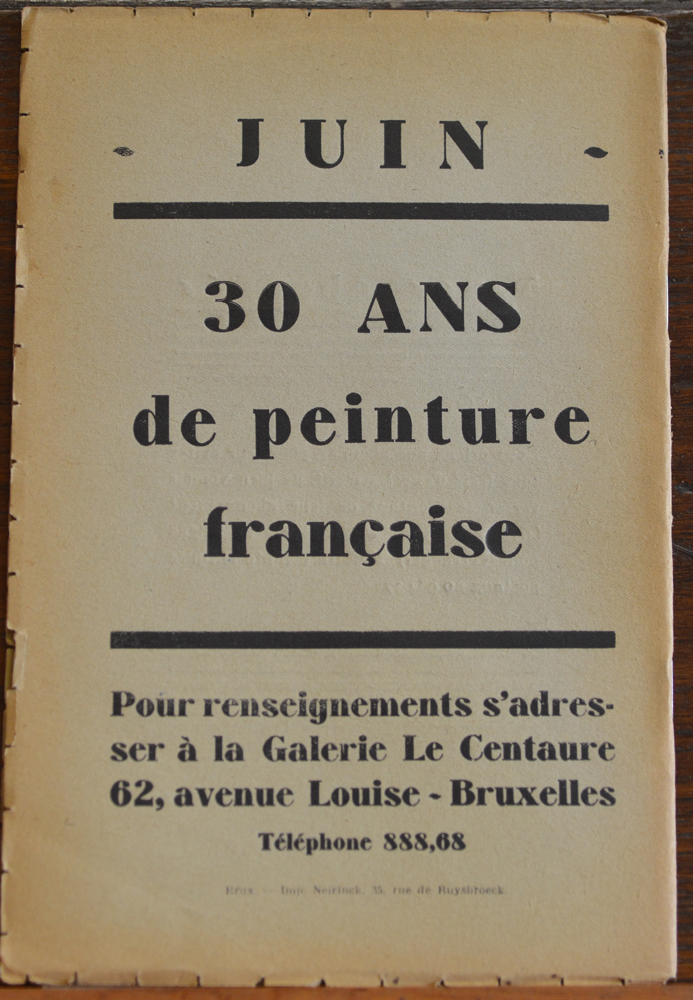 Le Centaure Mai 1930 — Back cover of the magazine<br>