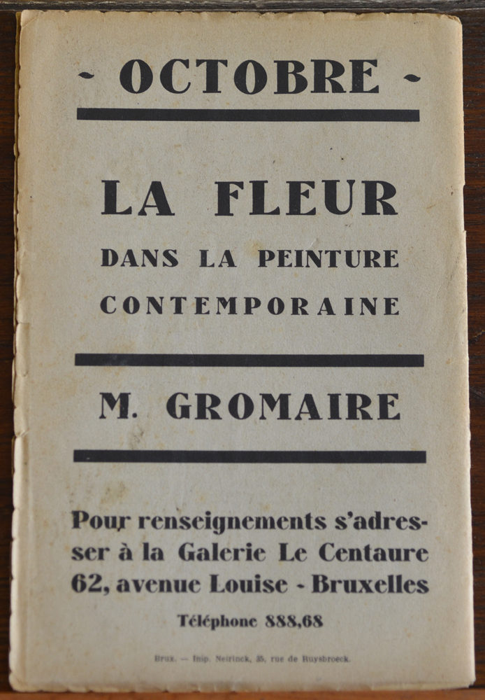 Le Centaure Octobre 1929 — Back of the magazine