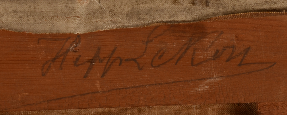 Hippolyte Le Roy — Signature of the artist in pencil on the back of the strecher