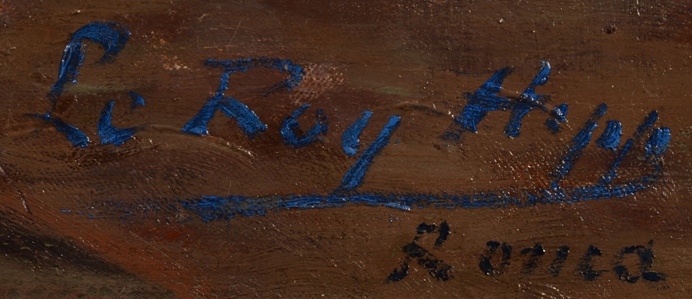 Hippolyte Le Roy — Signature of the artist and localisation, bottom left
