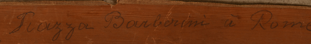 Hippolyte Le Roy — title in pencil on the back of the strecher