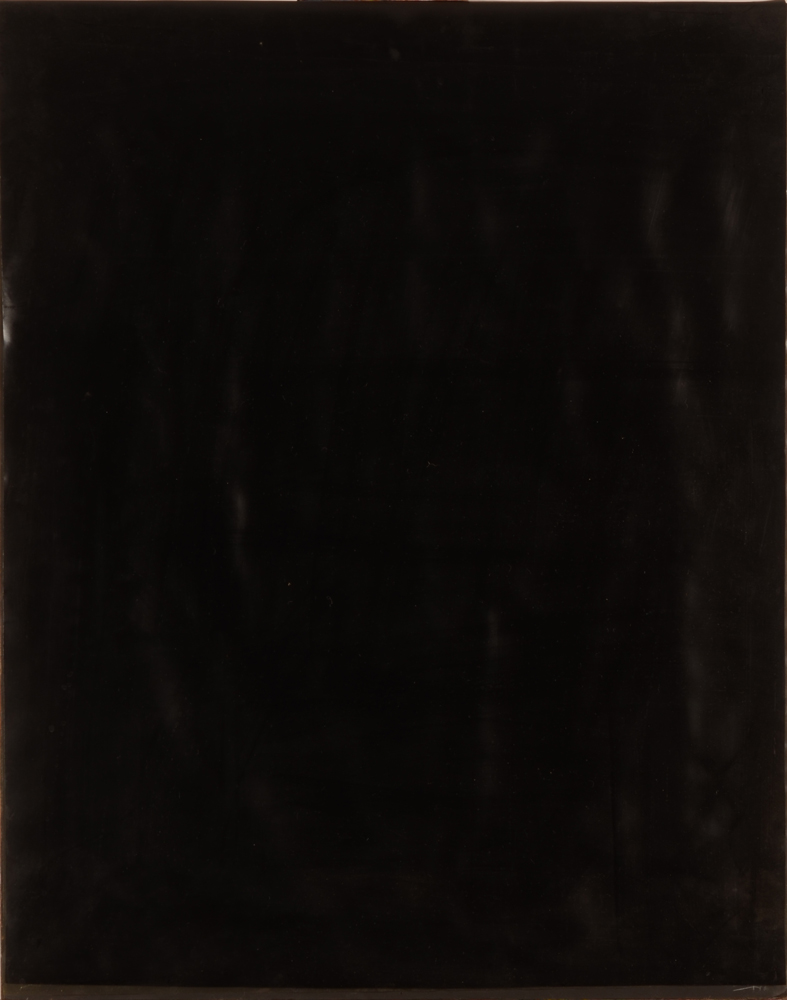 Jacques Lennep — Front of the work with black plastic sheet