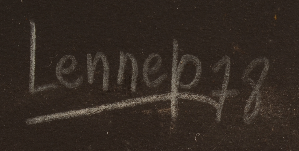 Jacques Lennep — Signature of the artist and date, bottom right