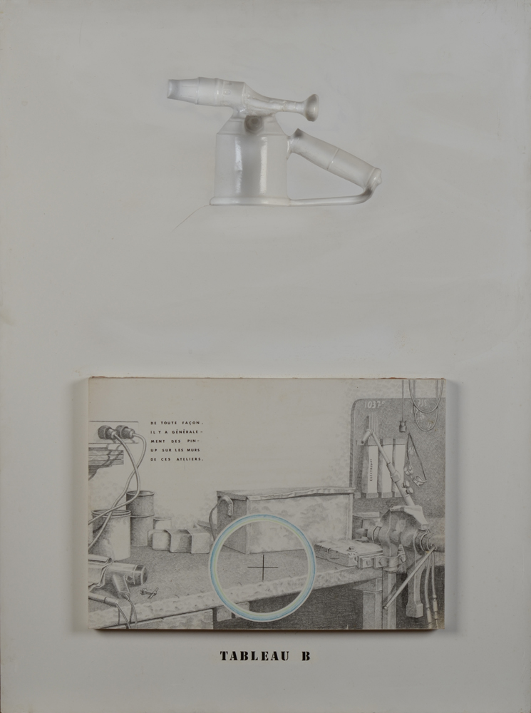 Jacques Lennep — A mixed media conceptual work of 1973.