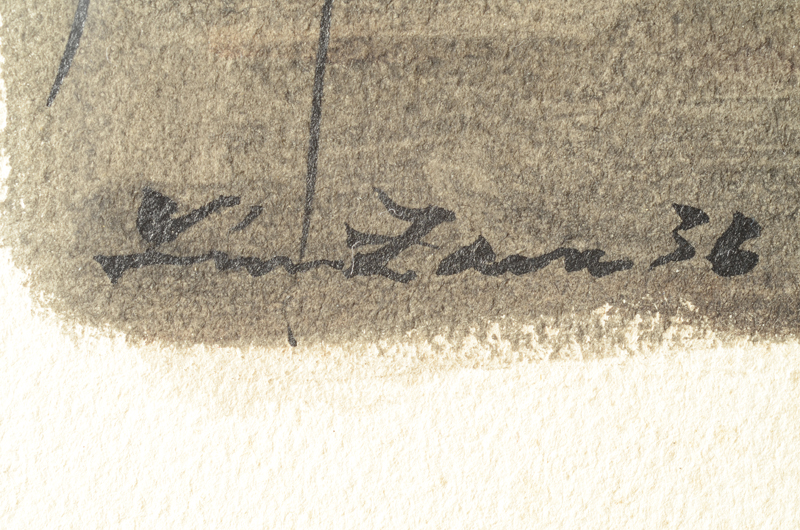Leon Zack — Signature and date of the drawing