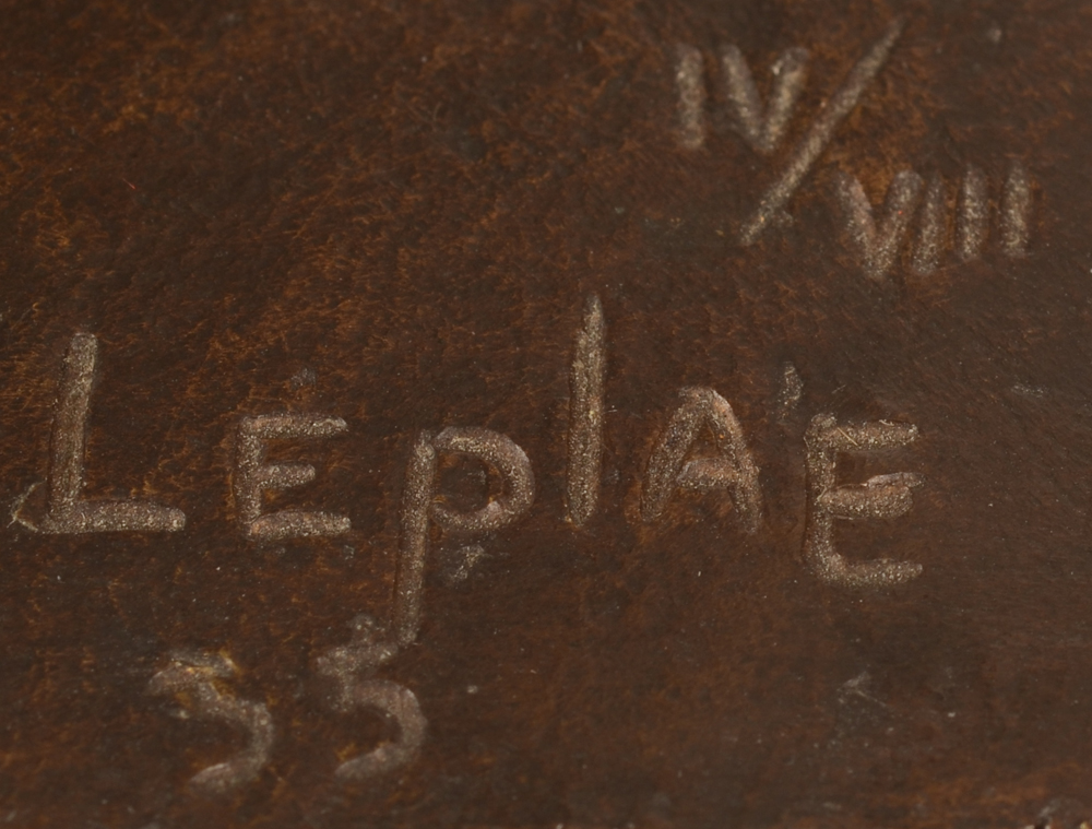 Charles Leplae — Signature of the artist on the base, date and justification 4 out of 8