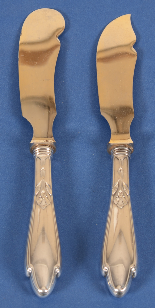 Hugo Leven — Another view of the art nouveau cutlery in silver