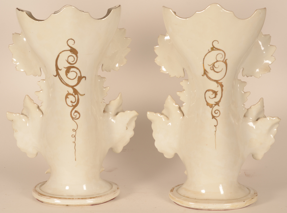 A massive pair of Louis-Philippe porcelain vases — Back of the vases