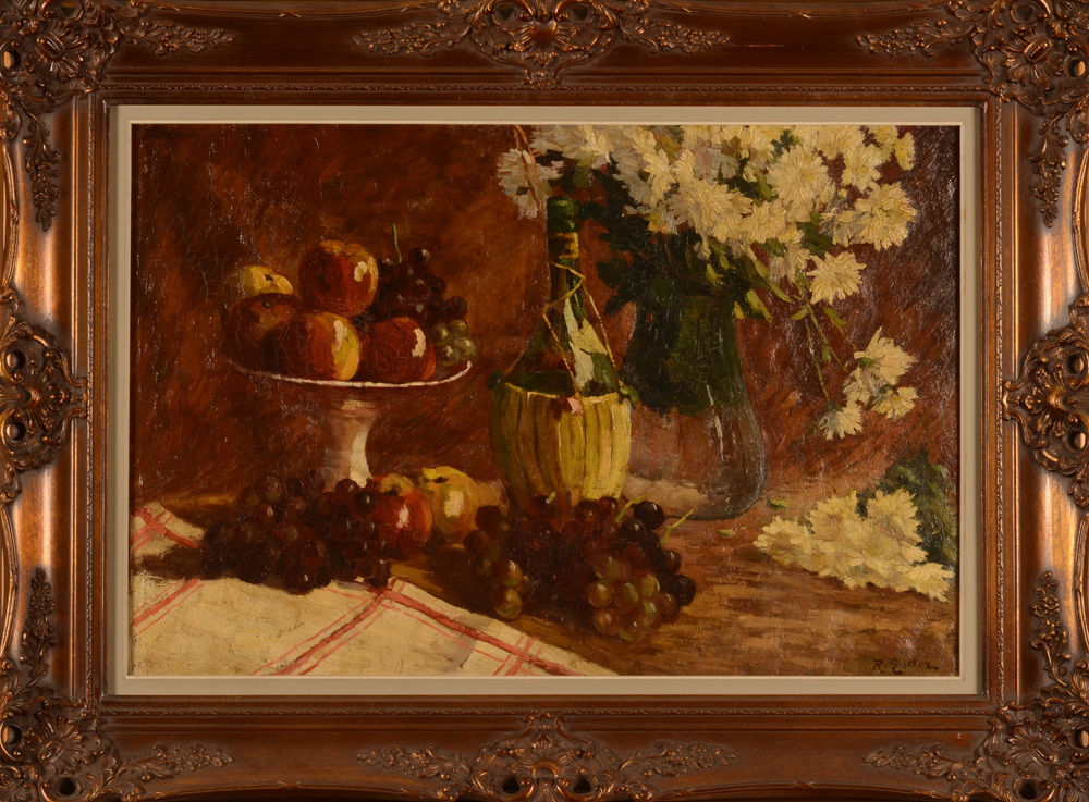 Rodolphe Lutter — The painting in its ornate frame