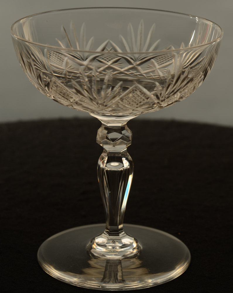 Lydia Champagne Coupe — Val St-Lambert Lydia&nbsp;Champagne Coupe kristal<br>
