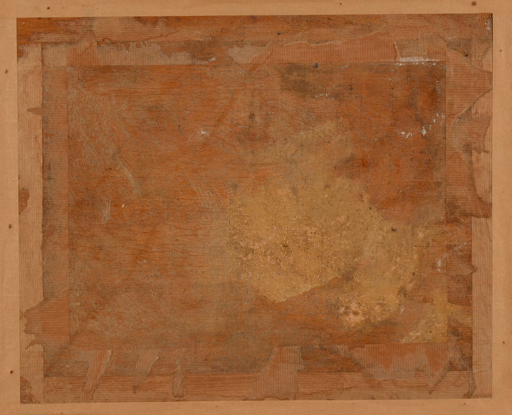 Maurice Maes — Back of the painting