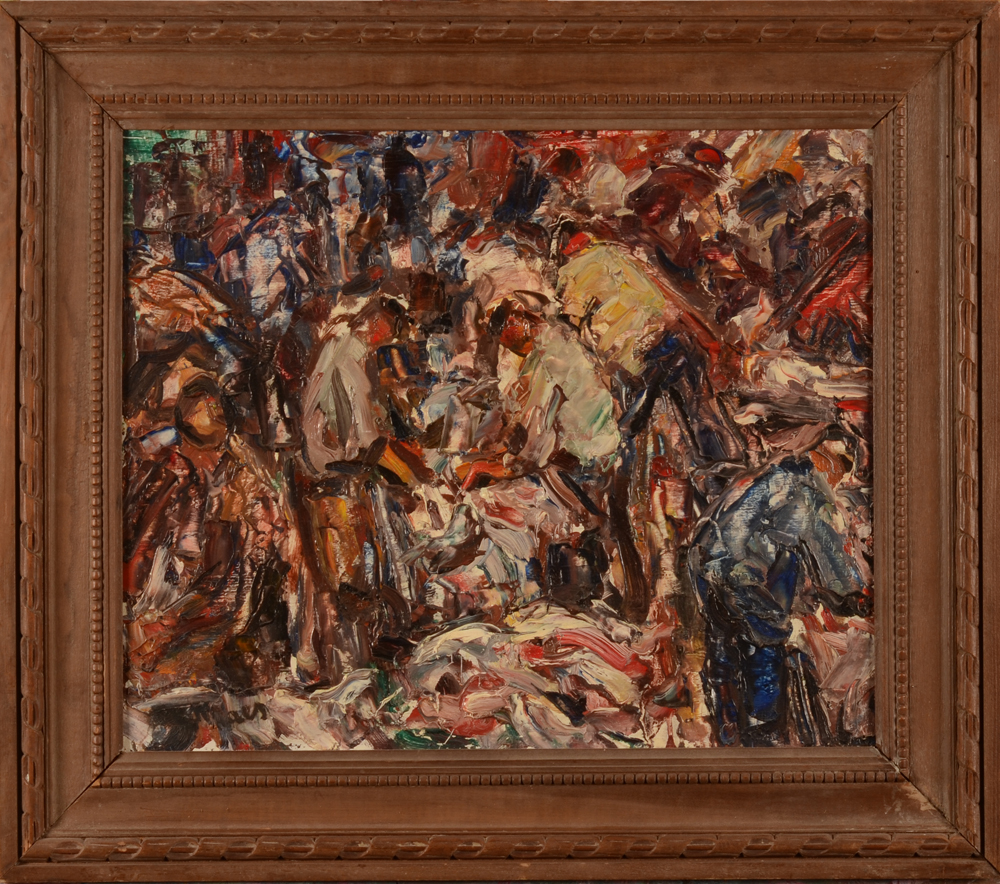 Maurice Maes — the painting in its wooden frame