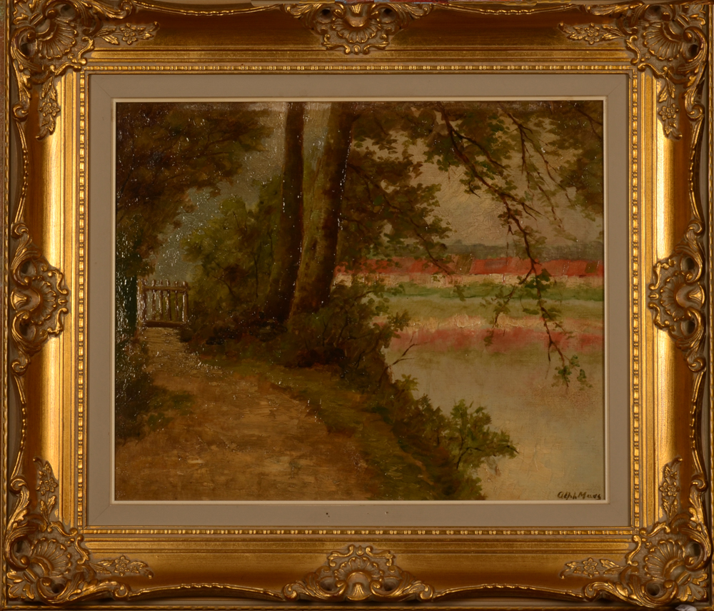 Alph. Maes Along the river — In a later frame