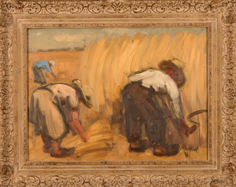 Hubert Malfait — The painting with its current frame<br>