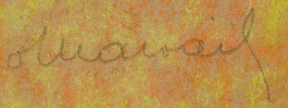 Octave Malfait — Signature of the artist, bottom left