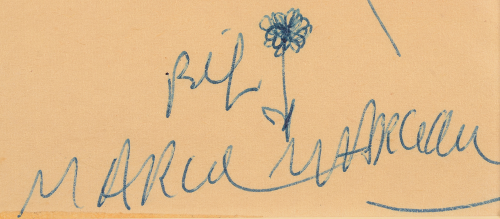 Marcel Marceau — Signature and title by the artist.
