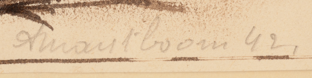 Antoon Marstboom — Signature of the artist and date, bottom right
