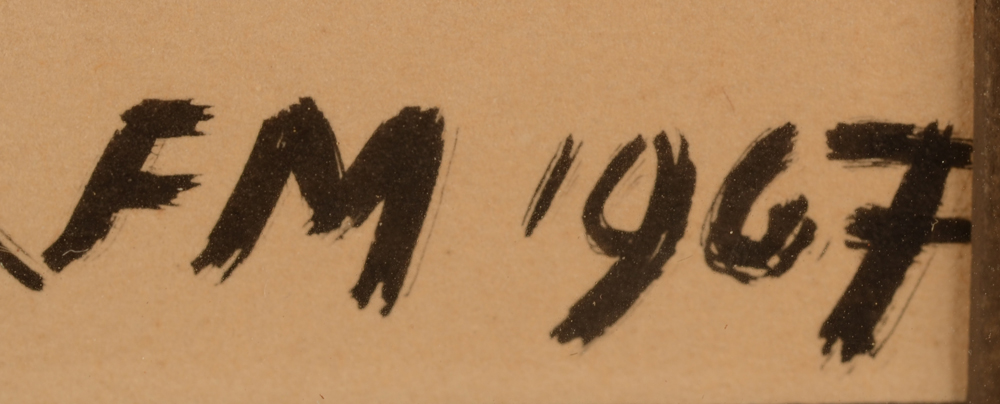 Frans Masereel — Monogram signature of the artist and date, bottom right