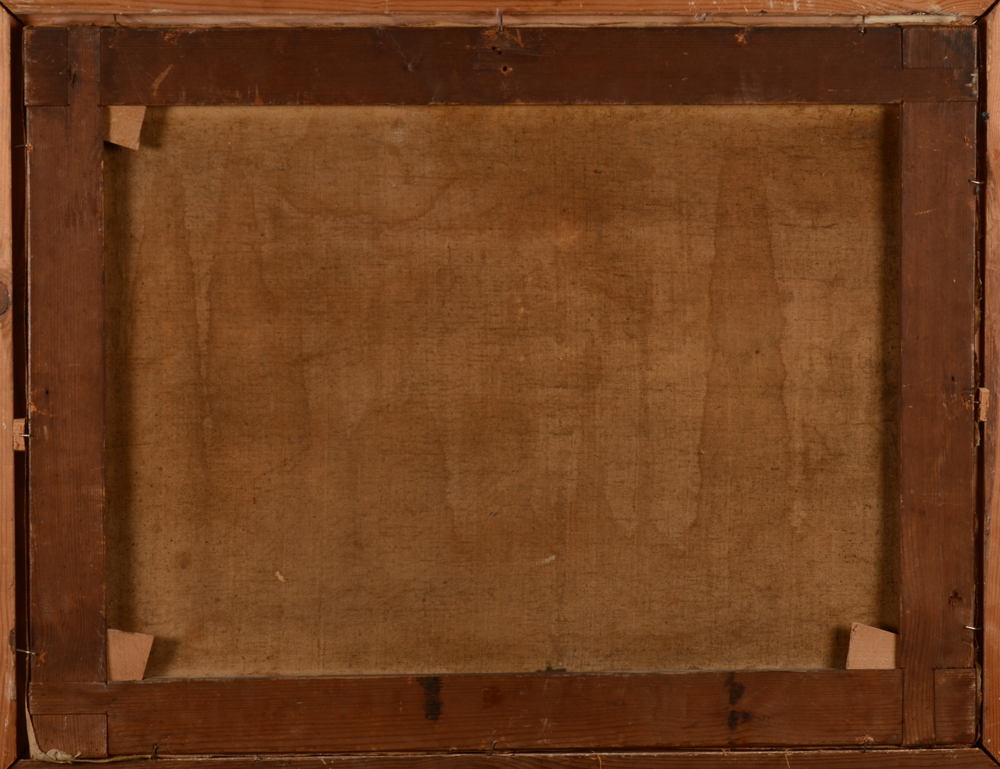 Charles Mauzaisse — <p>Back of the canvas, note the unusual handmade chassis</p>