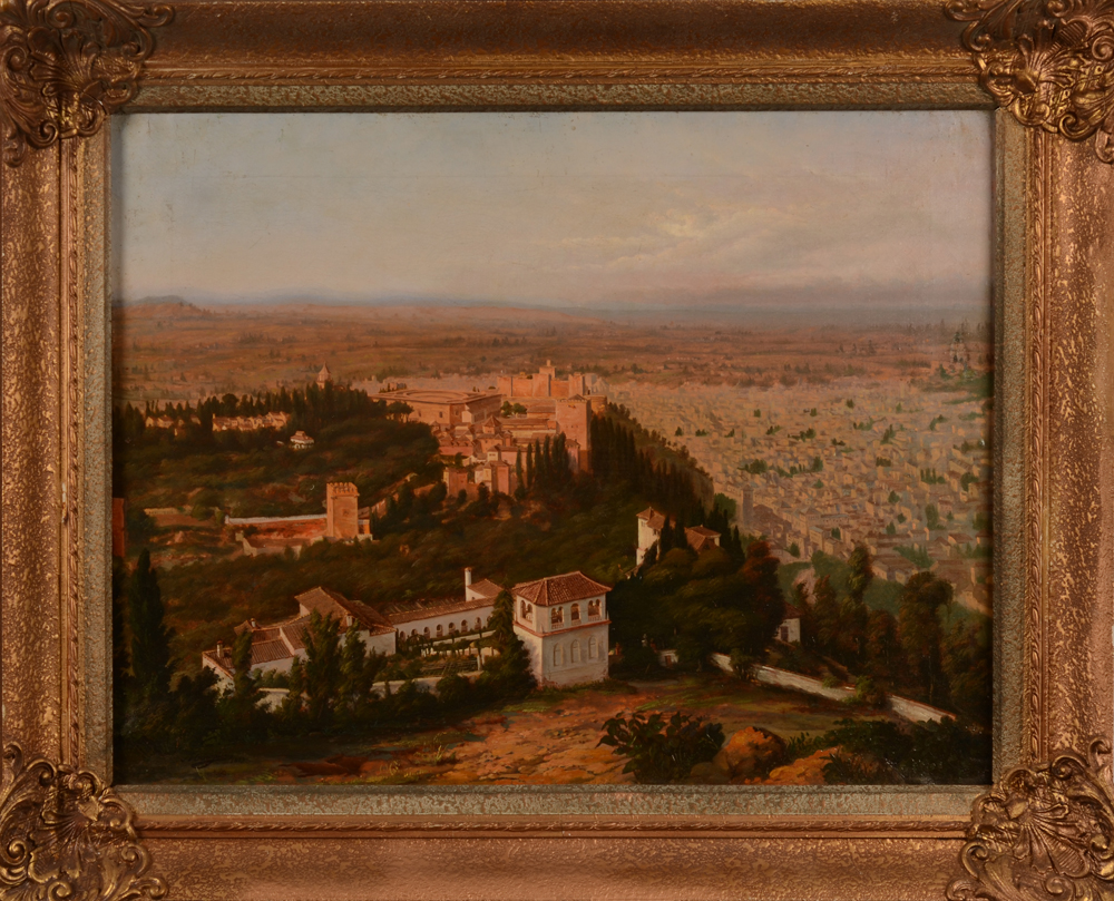 Charles Mauzaisse — <p>the oil on canvas with its later frame</p>