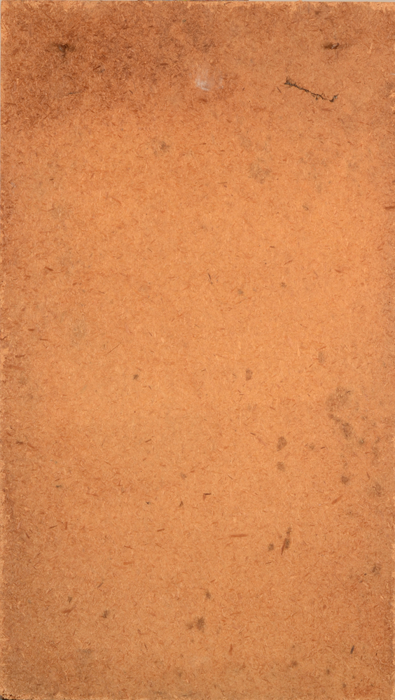 Georgette Meersman — Back of the painting, painted on chipboard