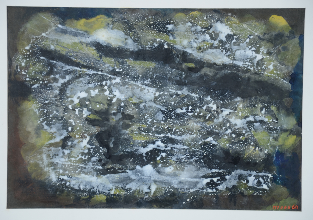 Jozef Mees — A lyrical abstract gouache by this influential abstract painter.