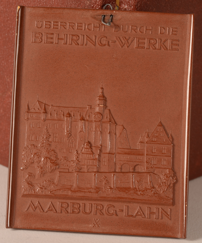 Meissen — Back of the procelain plaque with the Meissen mark.