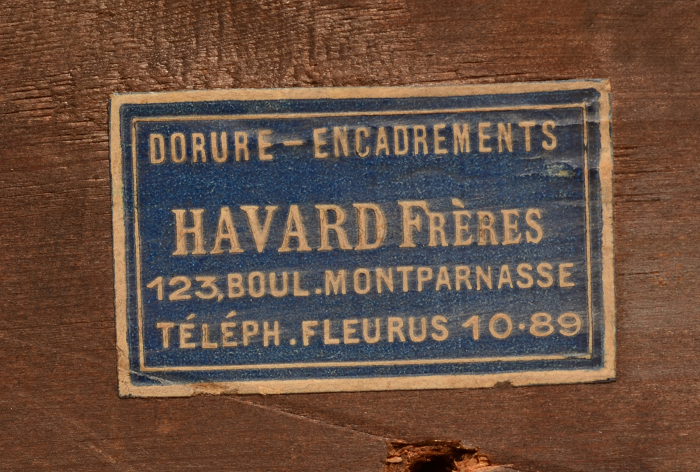 Emile-Rene Menard — Label of the frame maker