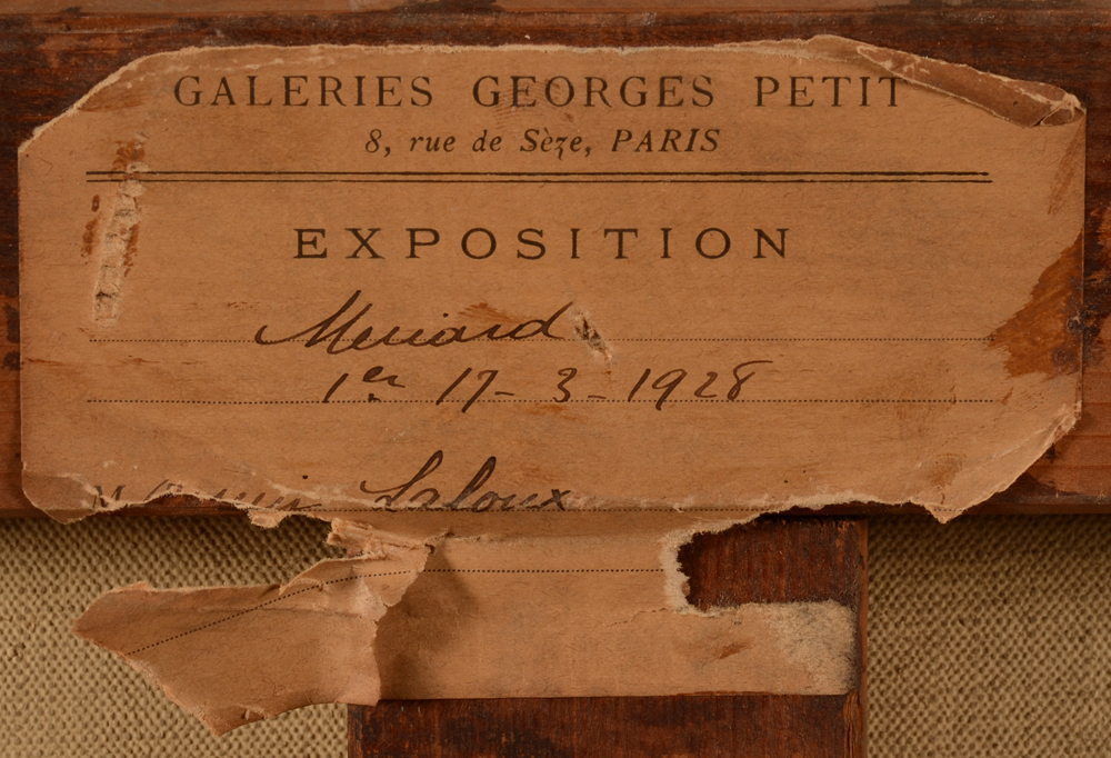 Emile-Rene Menard — Label of an exhibition at the Georges Petit gallery in Paris