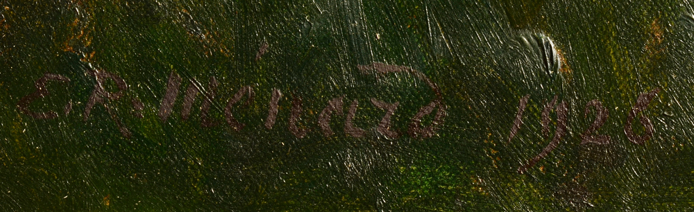 Emile-Rene Menard — Signature of the artist and date, bottom right