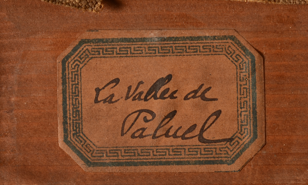 Emile-Rene Menard — Label with title of the work, possibly written by the artist?