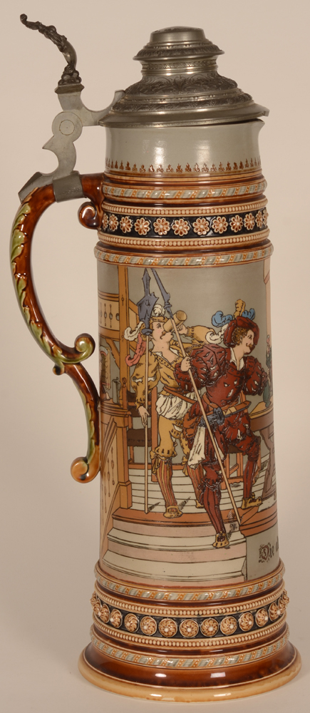 Mettlach Stein — Alternate view, handle in perfect condition