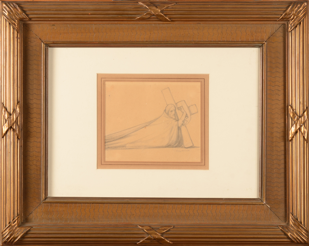 George Minne — the drawing in its frame, professionally reframed, acid free gard paper, etc.