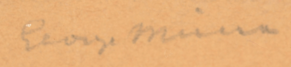 George Minne — Detail of the signature, bottom right