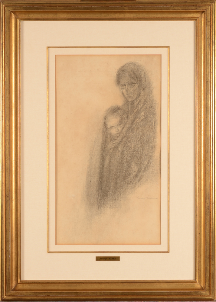 George Minne — The drawing in its modern frame