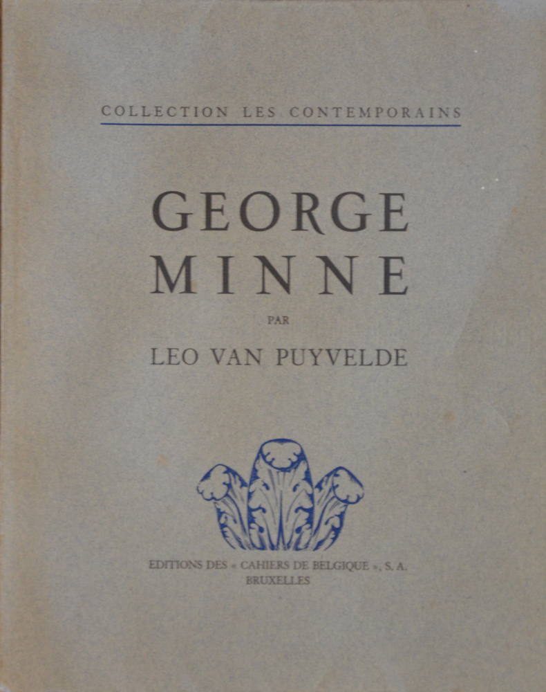George Minne — Cover of the book by Van Puyvelde from 1930.